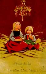 Martta Wendelin. A christmas card