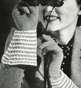 Vintage Tyrolean Gauntlet Gloves Pattern #77