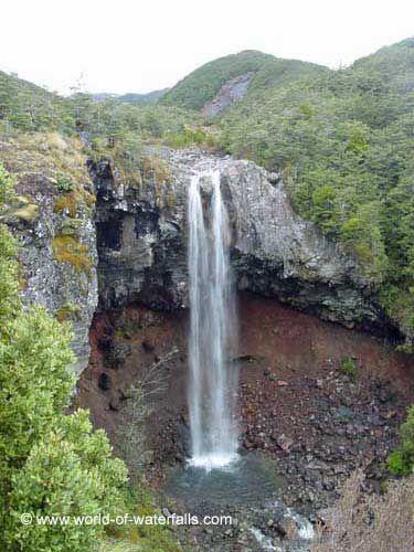 Mangawhero Falls  Mt Ruapehu, Manawatu-Wanganui, New Zealand