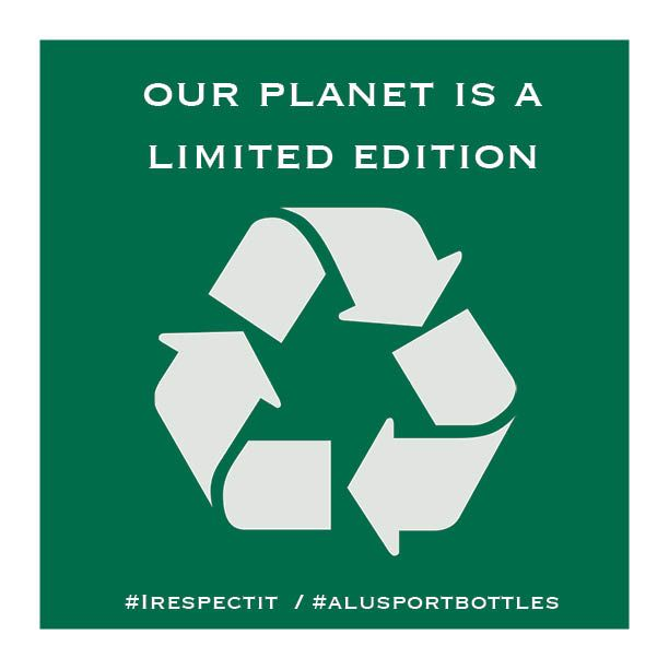 Nuestro planeta es una edición limitada / Our planet is a limited edition. #werespectit #respect #world #limitededition #alusportbottles
