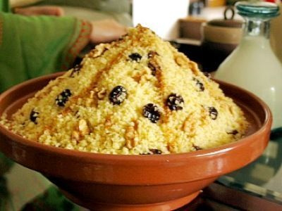 Couscous with Raisins - Moroccan Food