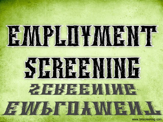 Check this link http://b4screening.com here for more information on Employment Screening. Employment screening is vital for a company of any size. As manager, business owner, or human resources head, you should know that the company's success does not only depend on the clients but also on the achievements of the employees in every position. Therefore it is imperative that you opt for the best Employment Screening.  Follow Us : http://preemployment--screening.tumblr.com/EmploymentScreening