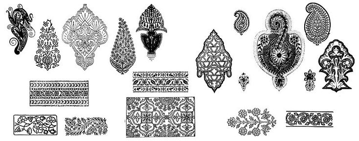 орнаменты индии лотос - Hledat Googlem
