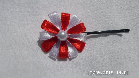 Ribbon Hair Pin by tianadesign on Etsy