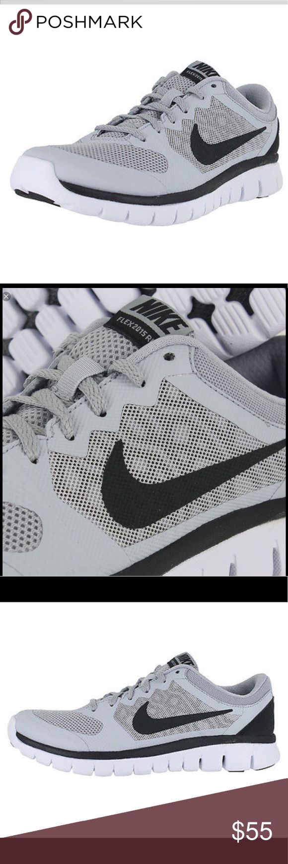 💥Nike Flex 2015 Run GS Youth Boy Running Shoes💥 A direct take-down of the bigger guys, the Nike® Kids Flex 2015 Run will cradle their feet  through every gait! A neutral running shoe. Breathe Tech upper design fuses foam and mesh for enhanced ventilation with  lightweight support. Lace-up closure for snug fit. Breathable and lightweight mesh and synthetic upper materials. Minimal, no-sew overlays provide irritation-free wear. Asymmetrical mid-foot design keeps the foot locked into place…
