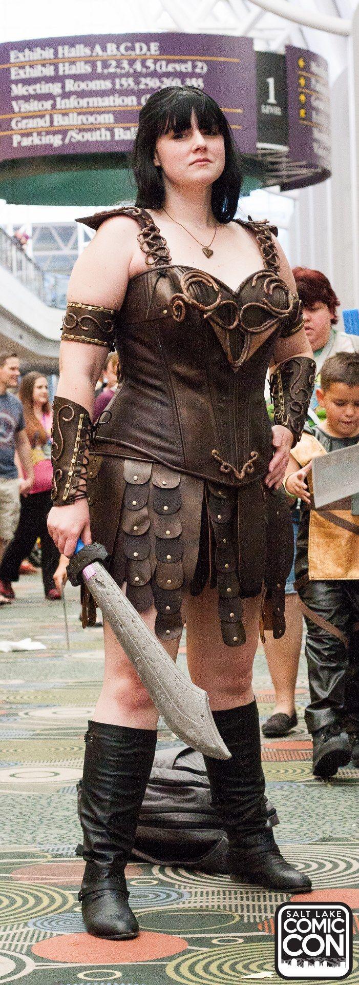 Xena Warrior Princess cosplayer at Salt Lake Comic Con ...