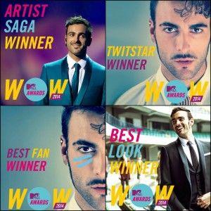 Marco Mengoni triunfa en los premios MTV de Italia