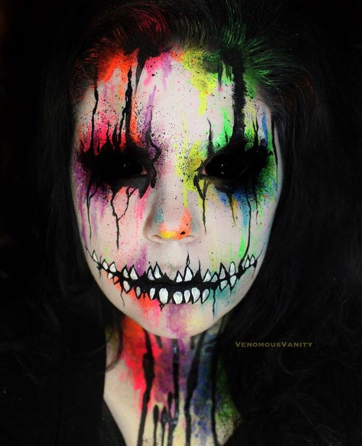 Badass Halloween face painted skull                                                                                                                                                                                 More