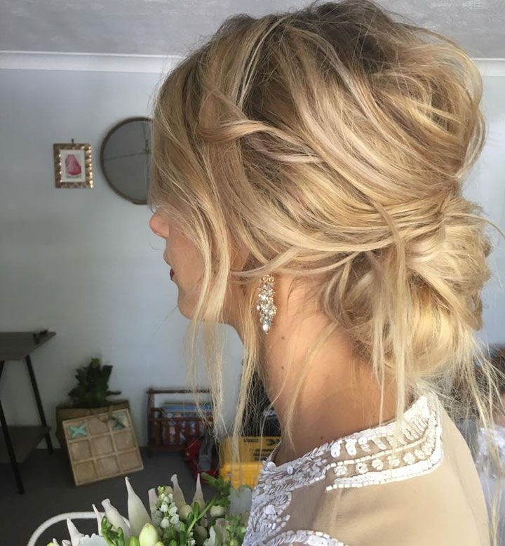 Gorgeous Messy Chignon by Emma Chen Artistry ~ another side view
