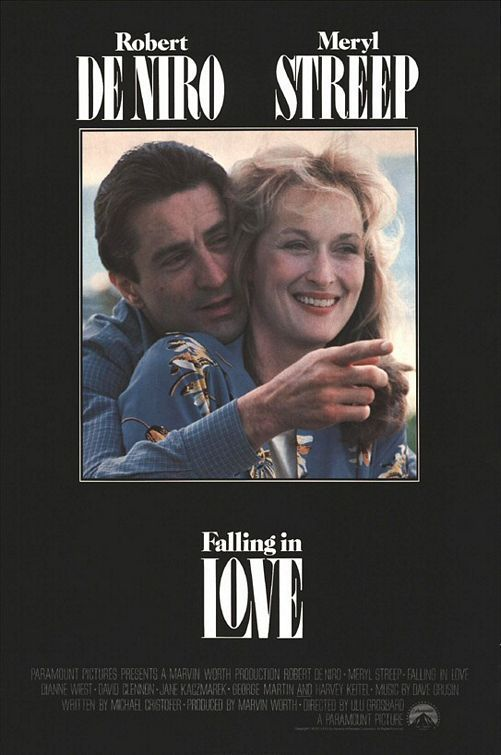 Falling in Love is a 1984 American romantic-drama film starring Meryl Streep and Robert De Niro and directed by Ulu Grosbard. In the film, two married strangers meet randomly, become friends, and fall in love. Wonderful this is how you fall in love with a married man