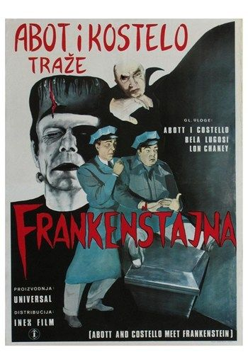 Bud Abbott and Lou Costello Meet Frankenstein, c.1948 (foreign) Movie Poster (11 x 17) - Item # MOV417421 - Posterazzi