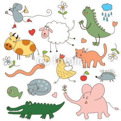 cartoon animals vector image on vectorstock - Kids Cartoon Animals