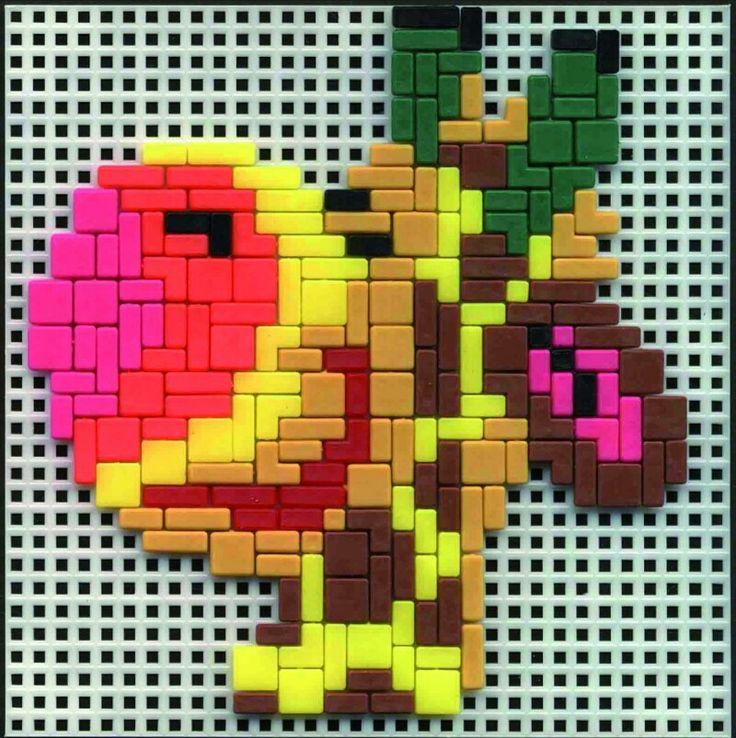 Ministeck voorbeeld giraf, pattern giraffe