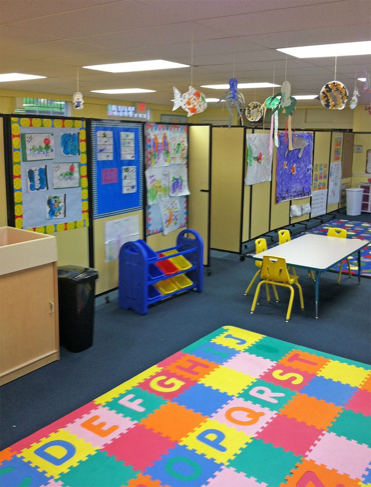 Amazing School Room Dividers Part - 8: Versare Room Dividers Distribute Space In This Pleasant And Colorful  Daycare Center. The Acoustical,