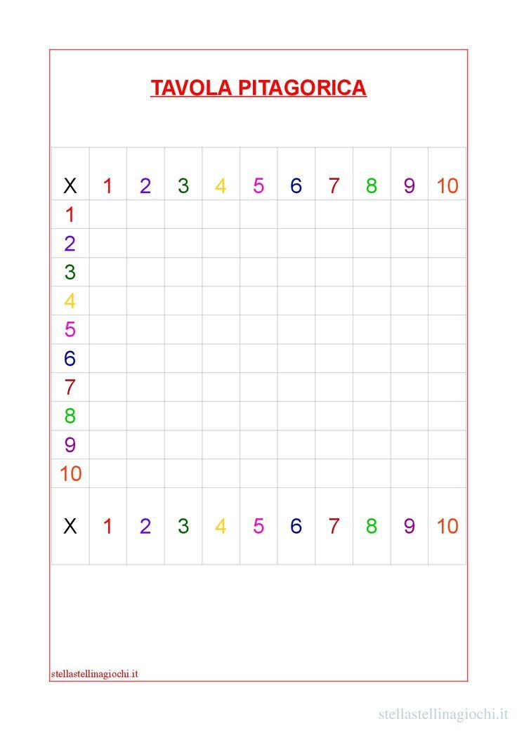 Oltre 25 fantastiche idee su schede di matematica su - La tavola pitagorica da stampare ...