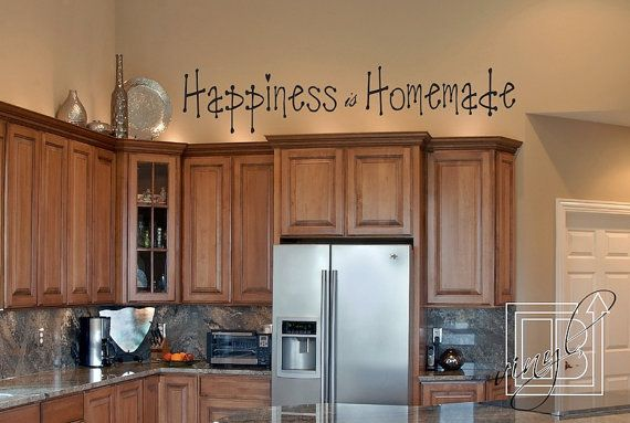 Wall Decal Happiness Is Homemade Wall Sticker  Word by BengalWorks, $34.00