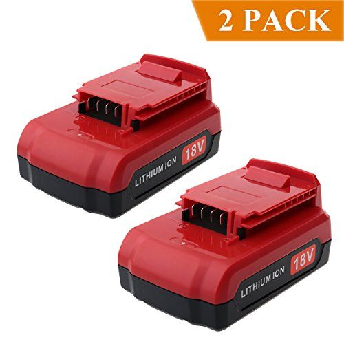 Biswaye 2 Pack 2.0Ah 18V Lithium Ion Battery for All Porter Cable 18-Volt Cordless Power Tools PC18B PC18BL PC18BLX Battery #Biswaye #Pack #Lithium #Battery #Porter #Cable #Volt #Cordless #Power #Tools #PCBL #PCBLX