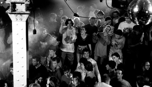 Ravers on the main stage in the Hacienda, Manchester 1989 - Peter J Walsh