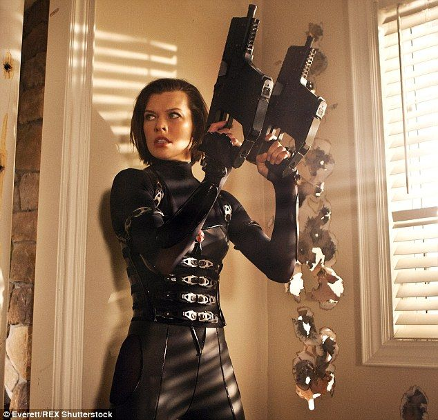 Milla Jovovich gets back to action hero best for Resident Evil | Daily Mail Online