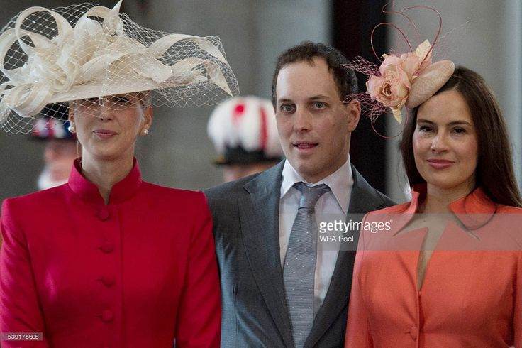 Lady Gabriella Windsor, Lord Frederick Windsor and wife Sophie Winkleman arrive for a service of thanksgiving for Queen Elizabeth II's 90th birthday at St Paul's cathedral on June 10, 2016 in London, United Kingdom. (Photo by Stefan Rousseau - WPA Pool/Getty Images)