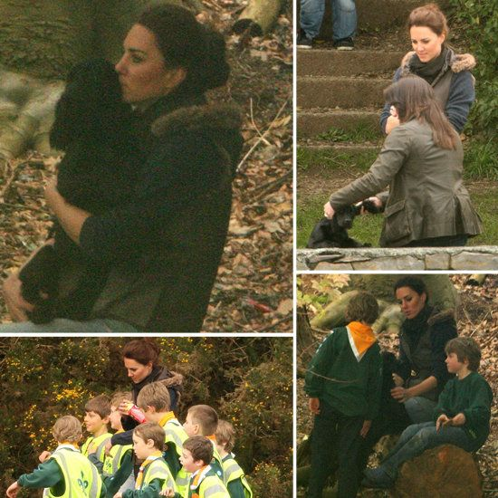 Kate Middleton got casual in Paige jeans for a camping trip near Anglesey, North Wales last week. The excursion was part of her volunteer work with the Scout Association, which is just one organization that she chose to support in her role as Duchess of Cambridge.  She brought along her dog, Lupo, and was seen cuddling with him.  She and Prince William adopted the cocker spaniel earlier this year and have been spotted out with him multiple times.