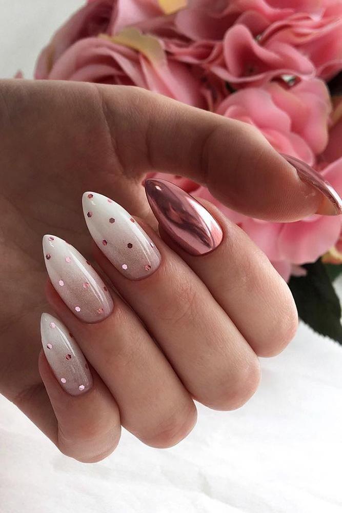 30 leuke nagel ontwerpideeën voor stijlvolle bruiden ❤ nagel ontwerp bruiloft ombre met