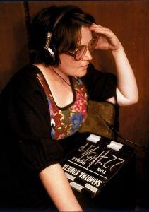 """Agnieszka Holland na planie filmu """"Kobieta samotna"""", 1981 r., fot. Jerzy Kośnik, źródło: Jerzy Kosnik/Forum?>"""