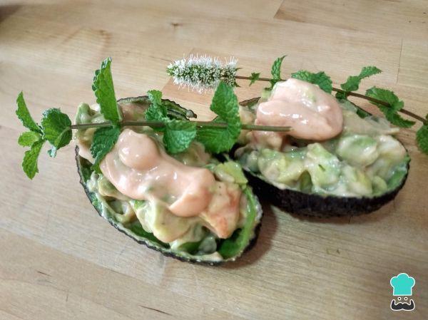 Shrimp Stuffed Avocado Halves in a Marie Rose Sauce Recipe Recipe