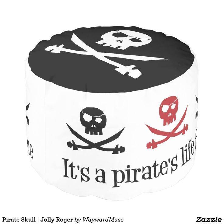 Custom Sturdy Spun Polyester Round Pouf +{ Yo Ho Ho! It's a pirate's life for me! }+