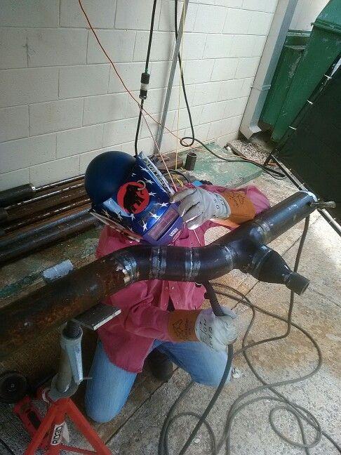 "My boss Padin welding pipe 3"" in P$G Cayey P.R"