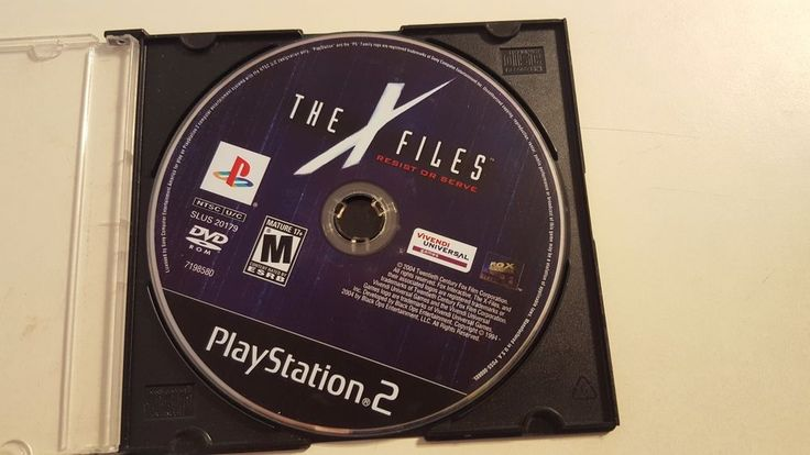 X-Files: Resist or Serve (Sony PlayStation 2, 2004) Disc Only