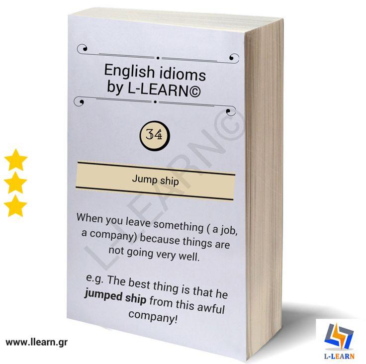 Jump ship. #Αγγλικά #αγγλικοί #ιδιωματισμοί #LLEARN
