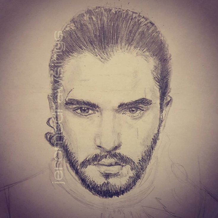 """44 Likes, 2 Comments - Jerome Xier (@jeromedrawsings) on Instagram: """"Since I can't really do much physical activities, worked on the much loved bastard: John Snow.…"""""""
