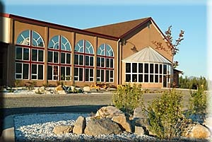 St. Elias Convention Centre in Haines Junction, Yukon. At the gateway to Kluane National Park.