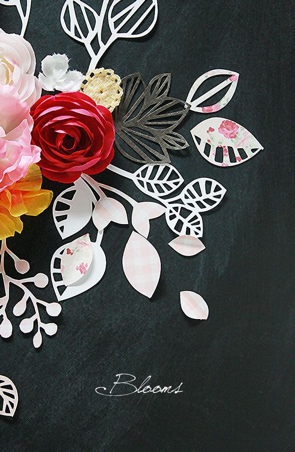 paper cut blooms, creative inspiration