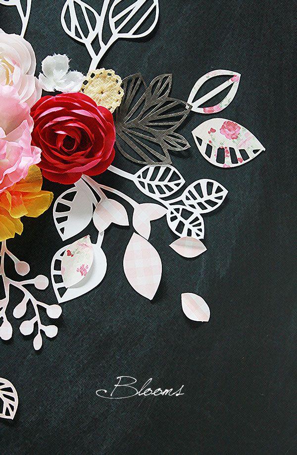 paper cut blooms, creative inspiration