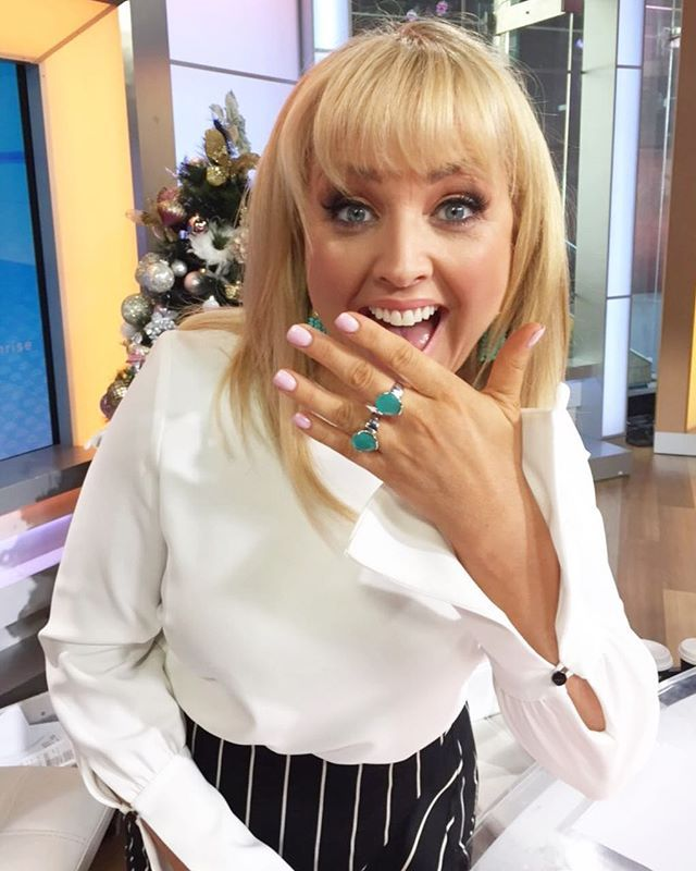 Uberspotted! Our Sea Marine Everyday Cocktail Collection rings on Weekend Sunrise host Monique Wright. Looking absolutely GORGEOUS Monique. Sea Marine Everyday Cocktail Rings are available now and will be shipped in plenty of time for you www.uberkate.com.au