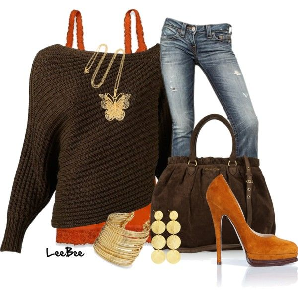 Casual Outfit: Outfits, Casual Outfit, Style, Clothes, Color, Cropped Sweater, Fall Fashion, Fall Outfit, Fall Winter