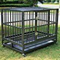 Sliverylake Heavy Duty Dog Cage Crate Kenel with Tray