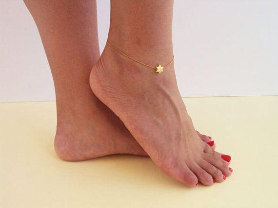 Gift for Girls Star Anklet Birthday Gift for by VasiaAccessories
