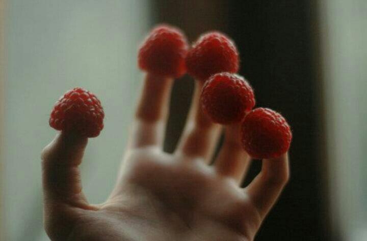 Hand & Raspberries