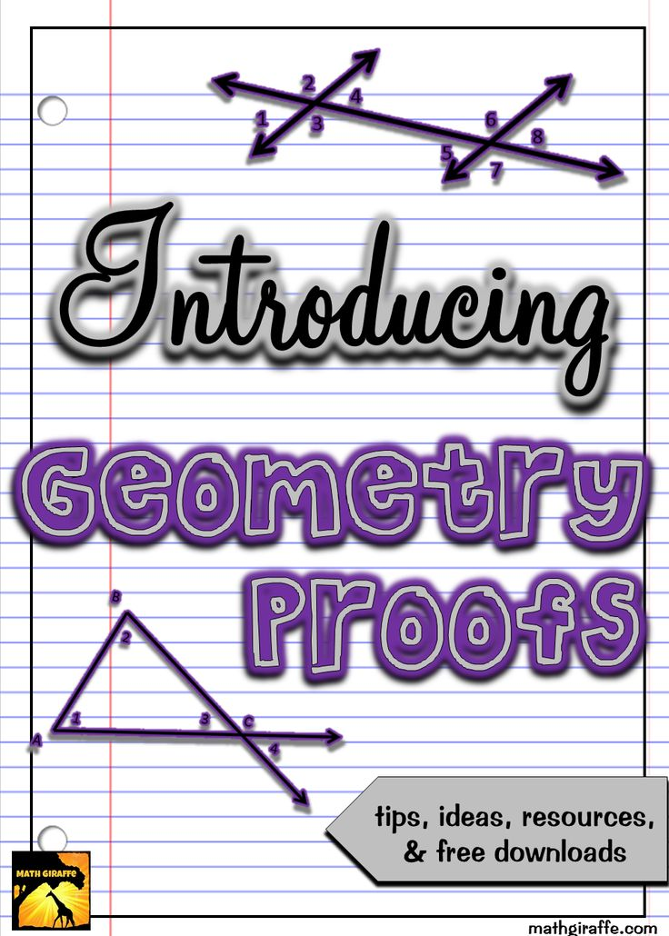 High School Geometry blog post - Adding a step to my sequence of lessons for introducing geometry proofs made a huge difference!!  Free downloads for your classroom