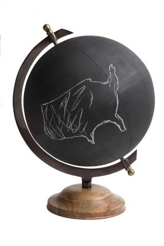 Large Chalkboard Globe, Jamie Young, Eclectic, Decorative Object, Create your own world