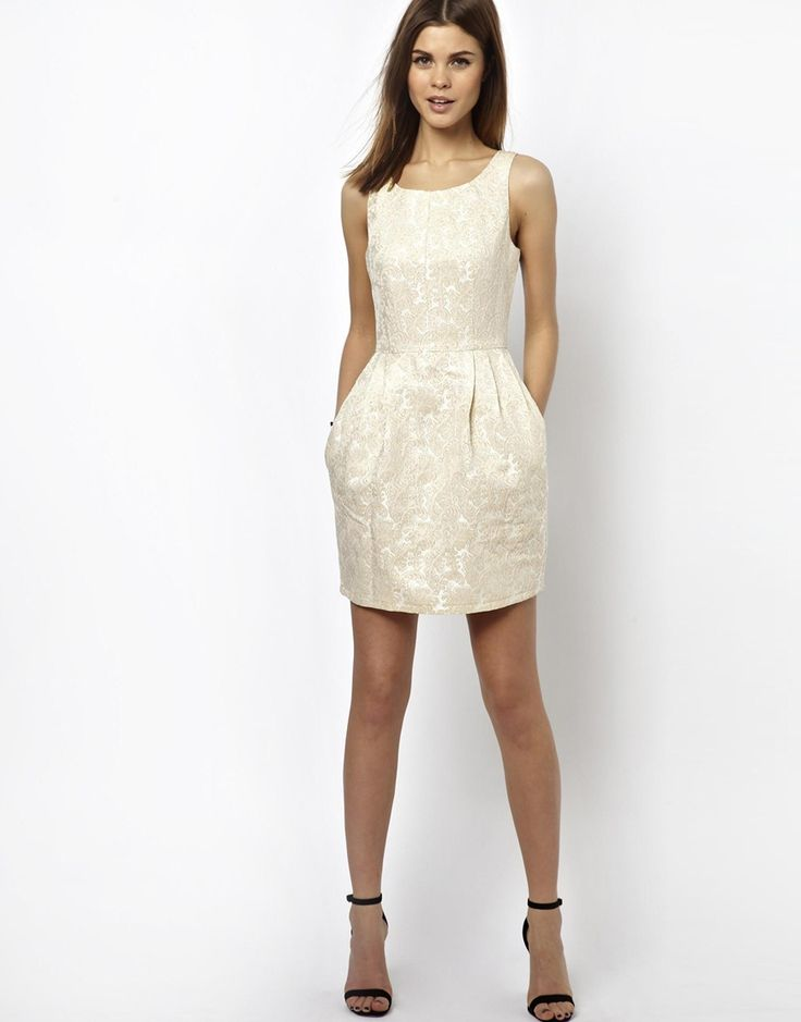 A Wear | A Wear Jacquard Tulip Dress at ASOS