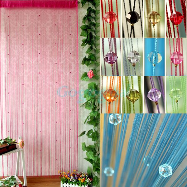 Acrylic Beaded String Curtain Fly Insect Door Screen Divider Window Blind Drape[210332] US $10.70