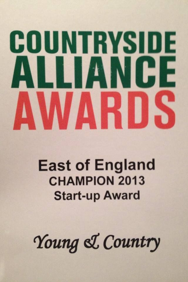 Countryside Alliance East of England Champions 'start-up' award