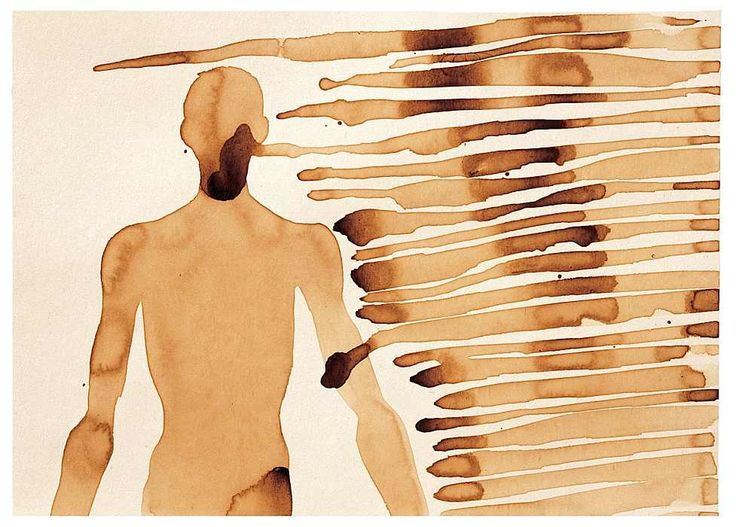 CHICORY COFFEE, 1995 - 1996 series drawing by Anthony Gormley