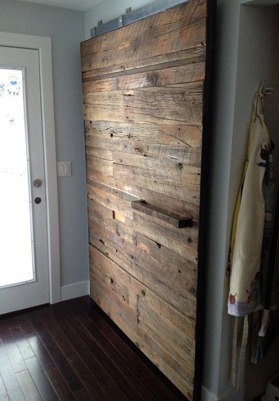 Les 25 meilleures id es de la cat gorie portes coulissantes sur pinterest - Fabriquer un placard avec portes coulissantes ...
