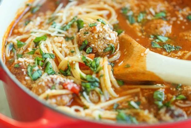Make This Spaghetti & Meatball Soup for a Cozy Dinner Party — Delicious Links