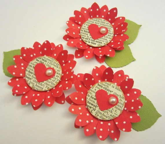 Scrapbooking Embellishment...use heart punch for petals?
